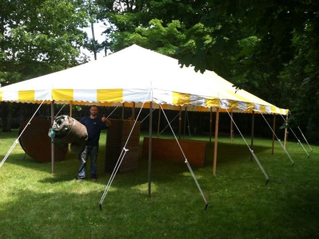 20x40 Yellow&White Pole Tent