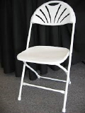 Where to rent CHAIR,WEDDING WHITE-FAN BACK in Haverhill MA