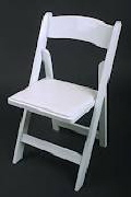 Where to rent CHAIR,WHITE RESIN PADDED in Haverhill MA